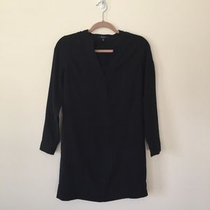 3/4 Sleeve Black Shift Dress